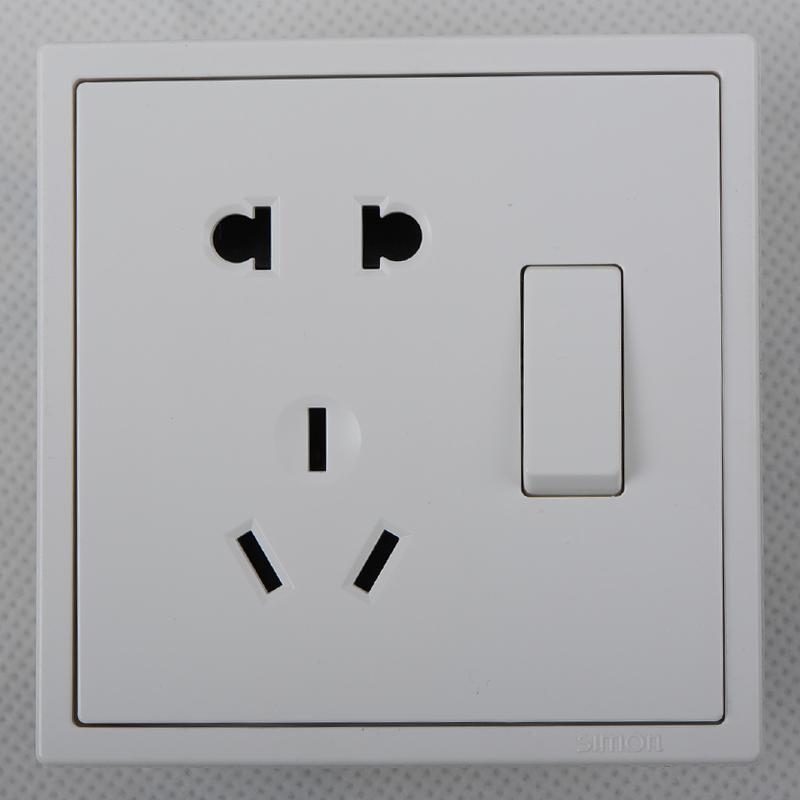 西蒙i7系列二三插座五孔插座带单开701086